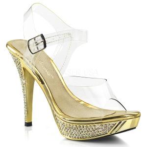 Oro Strass 12 cm ELEGANT-408 Plataforma Zapatos Tacón Alto