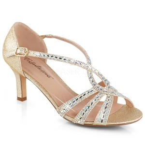 Oro brillo 6,5 cm Fabulicious MISSY-03 sandalias de tacón alto