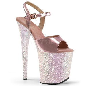 Oro purpurina 20 cm Pleaser FLAMINGO-809LG Zapatos con tacones pole dance
