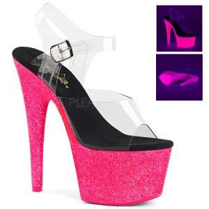 Pink 18 cm ADORE-708UVG Sandalias Mujer Plataforma Neon