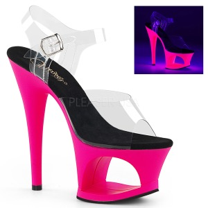 Pink 18 cm MOON-708UV Sandalias Mujer Plataforma Neon