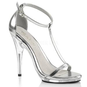 Plata 12,5 cm Fabulicious POISE-526 sandalias de tacón alto