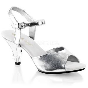Plata Mate 8 cm BELLE-309 Sandalias de mujer tacones altos