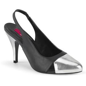 Polipiel 10 cm DREAM-405 zapatos de tacón con tira trasera para travestis