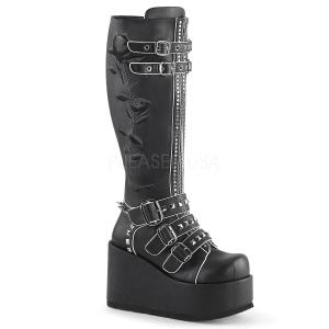 Polipiel 11 cm CONCORD-110 plataforma botas de mujer con hebillas