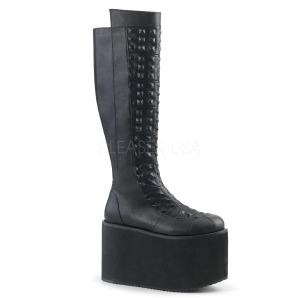 Polipiel 12 cm ROT-13 plataforma botas de mujer con hebillas