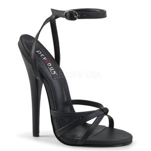 Polipiel 15 cm Devious DOMINA-108 sandalias de tacón alto