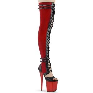 Polipiel 20 cm FLAMINGO-3027-1 botas por encima de la rodilla con cordones
