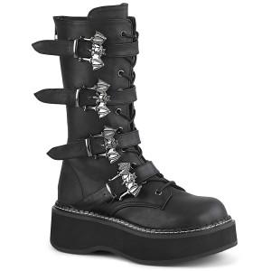 Polipiel 5 cm EMILY-322 plataforma botas de mujer con hebillas