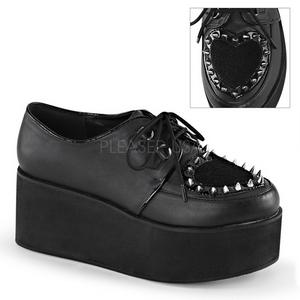 Polipiel 7 cm GRIP-02 lolita zapatos góticos calzados con suela gruesa
