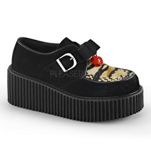 Polipiel CREEPER-213 Zapatos de Creepers Mujeres Plataforma