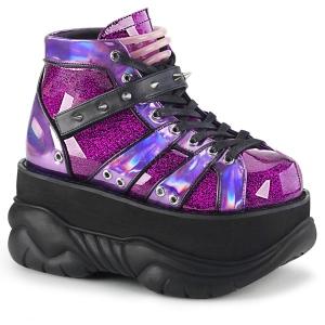 Polipiel Purpura 7,5 cm NEPTUNE-100 Zapatos de Goticas Hombres Plataforma
