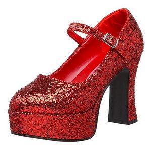 Rojo Brillo 11 cm MARYJANE-50G Plataforma Zapato Salón Mary Jane