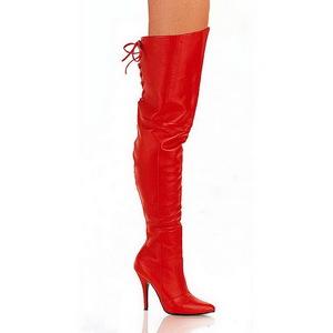Rojo Piel 13 cm LEGEND-8899 Largas Botas Altas Del Muslo