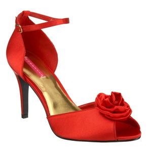 Rojo Satinado 9,5 cm ROSA-02 Sandalias Femininas Planos