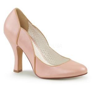 Rosa 10 cm SMITTEN-04 Pinup zapatos de salón tacón bajo