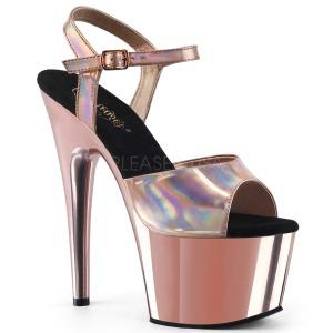 Rosa 18 cm ADORE-709HGCH Holograma plataforma sandalias de tacón alto
