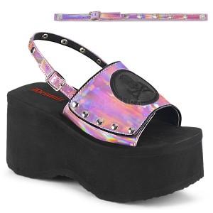 Rosa 9 cm Demonia FUNN-32 zapatos plataforma lolita