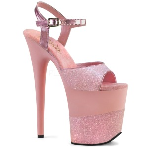 Rosa Brillo 20 cm Pleaser FLAMINGO-809-2G Tacones Altos Plataforma