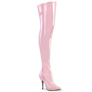 Rosa Charol 13 cm SEDUCE-3000 over knee botas altas con tacón