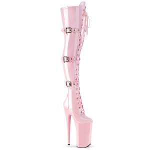 Rosa Charol 25,5 cm BEYOND-3028 botas altas tacones extremos plataforma