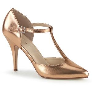 Rosa Oro 10 cm VANITY-415 zapatos de salón t correa
