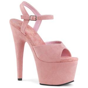 Rosa Polipiel 18 cm ADORE-709FS sandalias de tacón alto