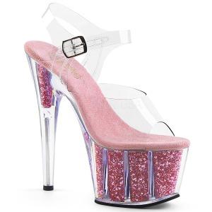 Rosa purpurina 18 cm Pleaser ADORE-708G Zapatos con tacones pole dance