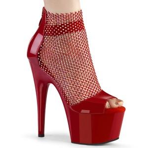 Tacones Rojo 18 cm ADORE-765RM brillo zapatos tacones altos con plataforma