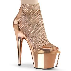 Tacones oro 18 cm ADORE-765RM brillo zapatos tacones altos con plataforma
