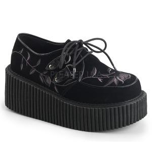 Terciopelo 7,5 cm CREEPER-219 creepers zapatos mujeres con suela gruesa