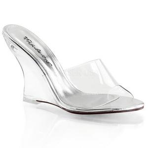 Transparente 10,5 cm LOVELY-401 Zapatos De Cuña Alta