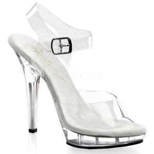 Transparente 13 cm LIP-108 Zapatos Tacón Aguja Plataforma