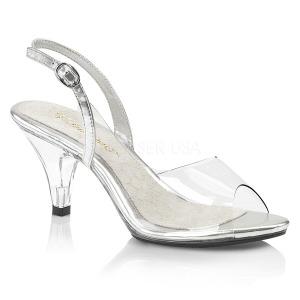 Transparente 8 cm BELLE-350 Zapatos para travestis