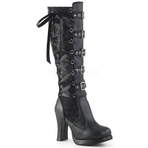 Vegano 10 cm CRYPTO-106 plataforma botas de mujer con hebillas