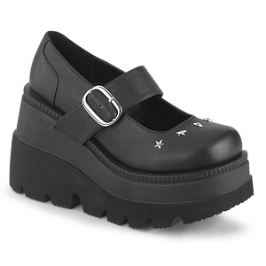 Vegano 11,5 cm SHAKER-23 demonia zapatos alternativo plataforma negro