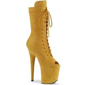 Vegano 20 cm FLAMINGO-1051FS botas de plataforma y punta abierta amarillo