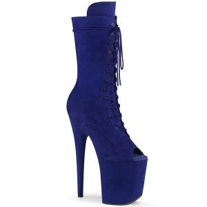 Vegano 20 cm FLAMINGO-1051FS botas de plataforma y punta abierta azul