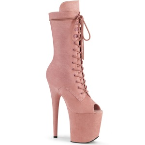 Vegano 20 cm FLAMINGO-1051FS botas de plataforma y punta abierta rosa