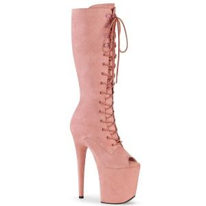 Vegano 20 cm FLAMINGO-2051FS botas de plataforma y punta abierta rosa