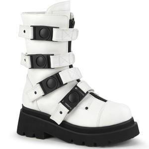 Vegano 6,5 cm RENEGADE-55 demonia botines alternativo plataforma blanco