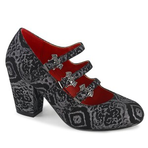 Vegano 8 cm VIVIKA-38 zapatos de salón maryjane con alas de murciélago