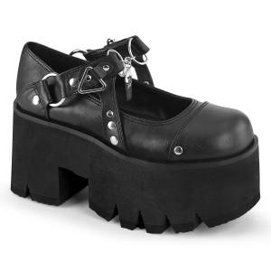 Vegano 9 cm ASHES-33 demonia zapatos alternativo plataforma negro