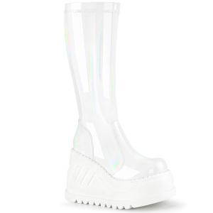 Vegano blanco 12 cm STOMP-200 botas cyberpunk plataforma de cuñas