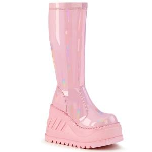 Vegano rosa 12 cm STOMP-200 botas cyberpunk plataforma de cuñas