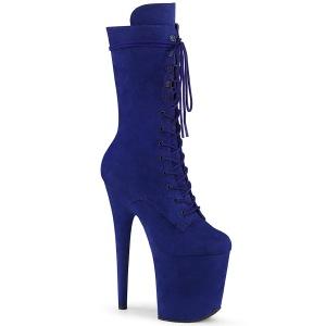 Vegano suede 20 cm FLAMINGO-1050FS botas plataforma exotic pole dance en azul
