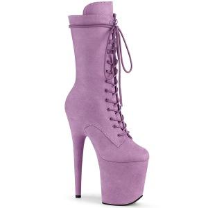 Vegano suede 20 cm FLAMINGO-1050FS botas plataforma exotic pole dance en purpura