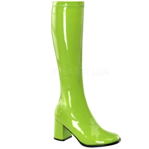 Verde Lacado 7,5 cm Funtasma GOGO-300 Botas Media Mujer