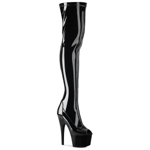 Vinilo 18 cm ADORE-3011 botas altas overknee punta abierta plataforma