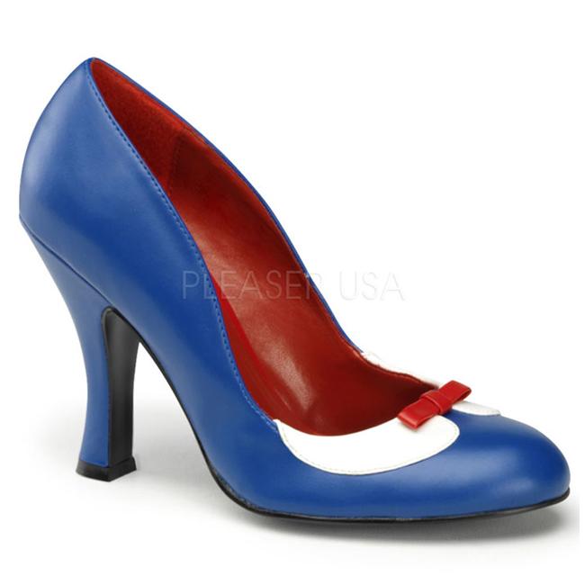 Zapatos azules Pin Up para mujer c97fxjjbW